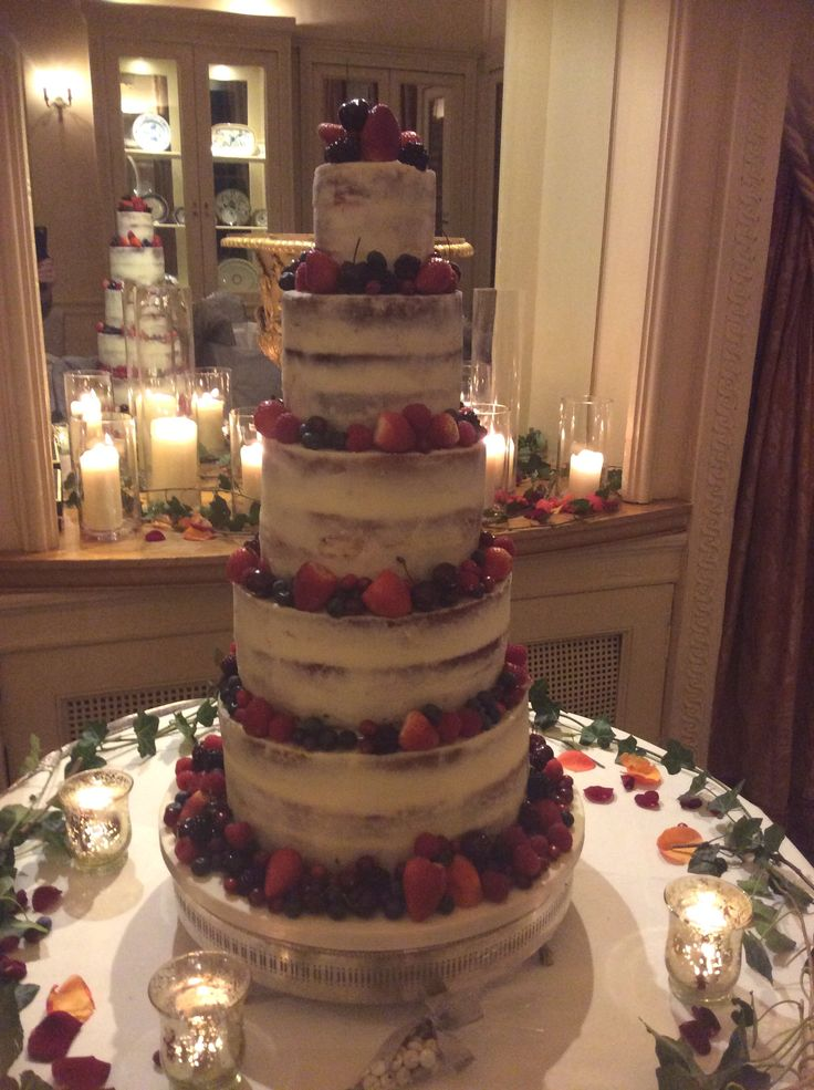 Pin On WEDDING NAKED CAKES