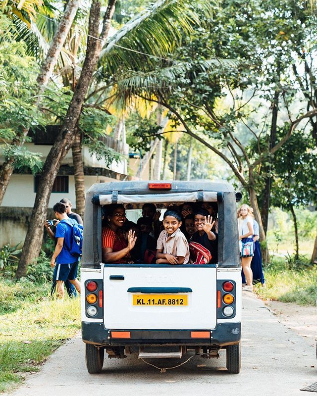 School Buses Are Just A Liiiittle Bit Smaller In India With