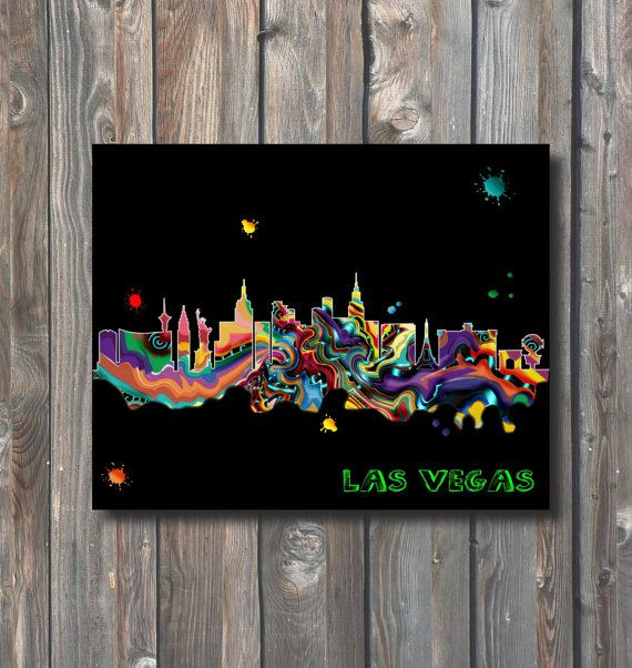 PRINTABLE Las Vegas Skyline Wall by HappyFiestaDesign on Etsy
