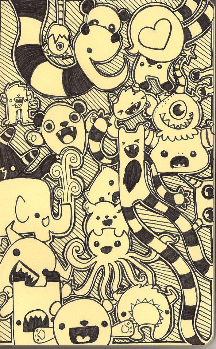 98 best monster art images on pinterest monsters for Doodle art monster