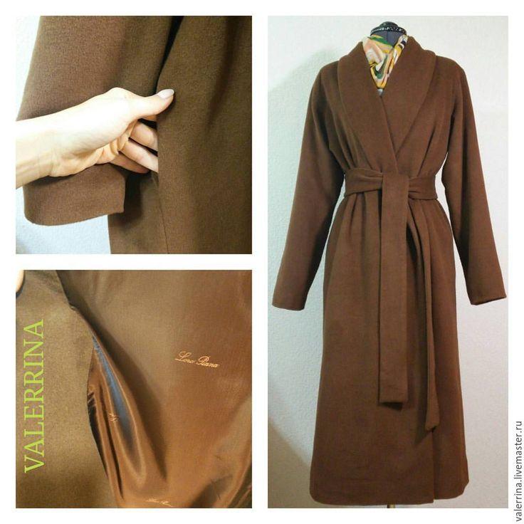 """Купить Пальто """"Халат"""" - коричневый, пальто женское, пальто-халат, Пальто осеннее, пальто свободное"""