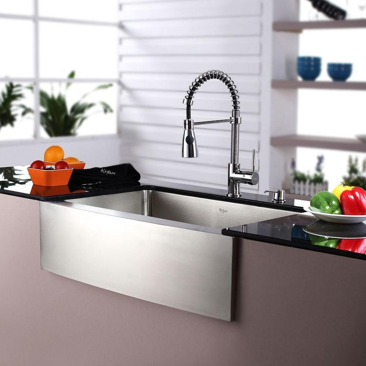 kitchen sink supplies kraus all in one farmhouse apron front stainless steel 30 2929