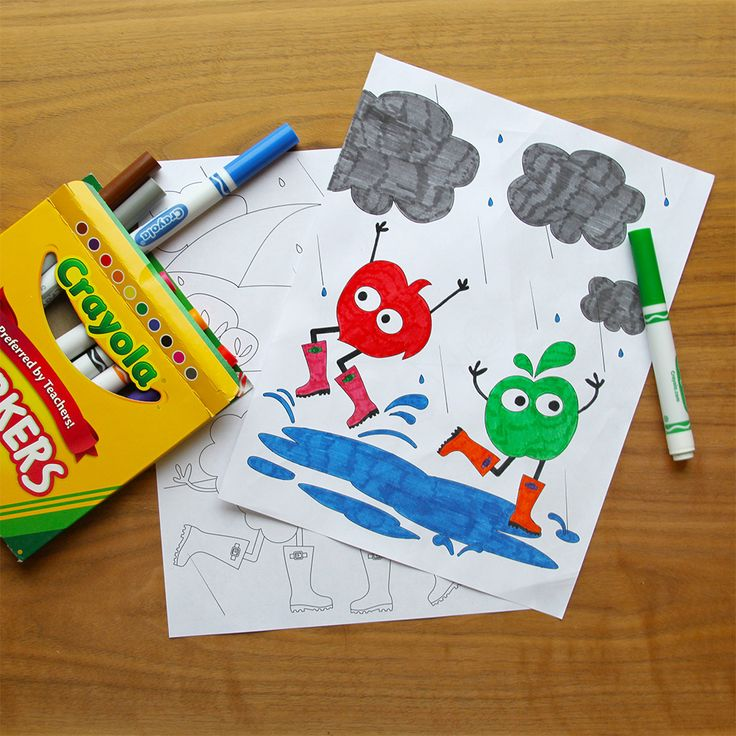 the perfect activitiy for the next rainy day snag these free printable coloring pages