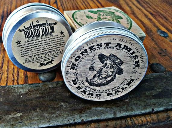 Honest Amish Beard Balm - 4 OUNCE TIN - Big -  Natural and Organic Conditioner on Etsy, $25.50