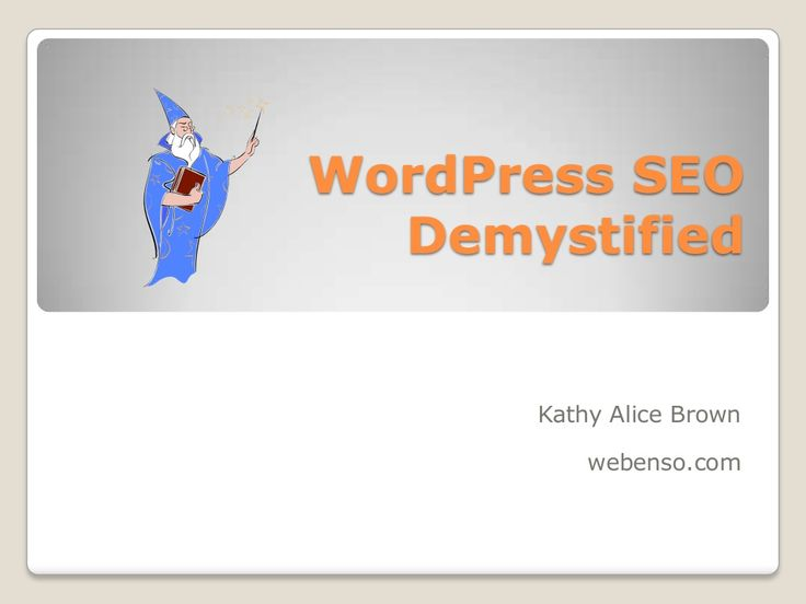 Demystifying WordPress SEO