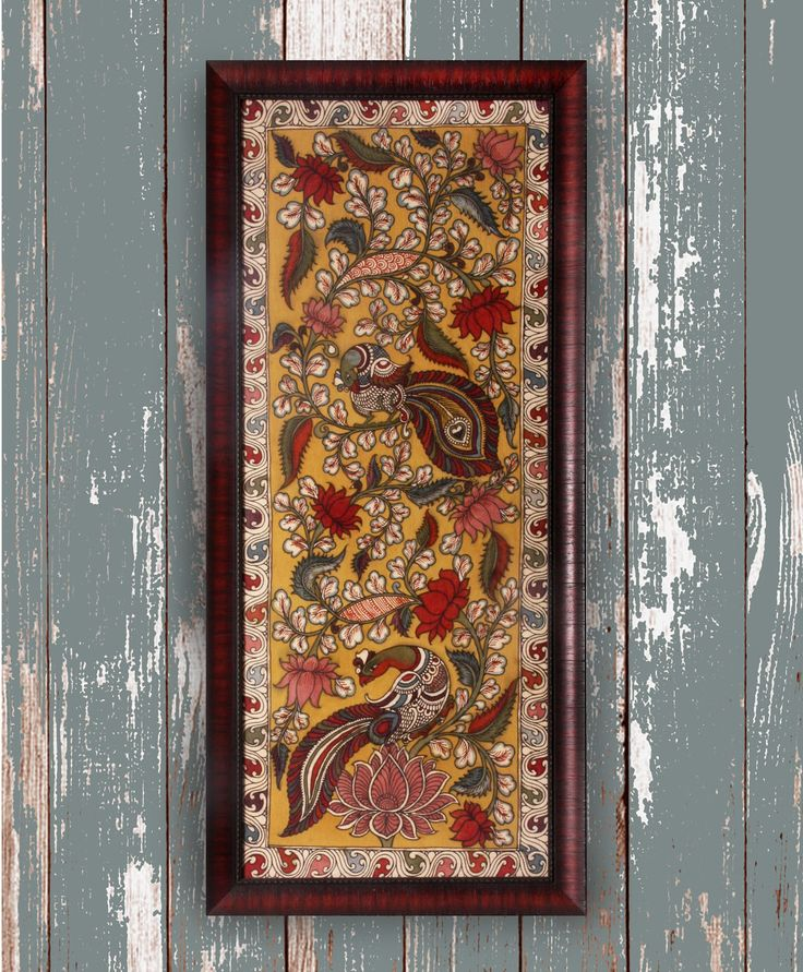 Daylight Garden 1 - Original Kalamkari on Fabric
