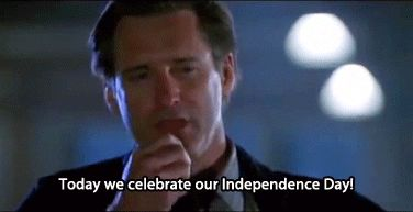 New party member! Tags: independence day fourth of july bill pullman today we celebrate our independance day