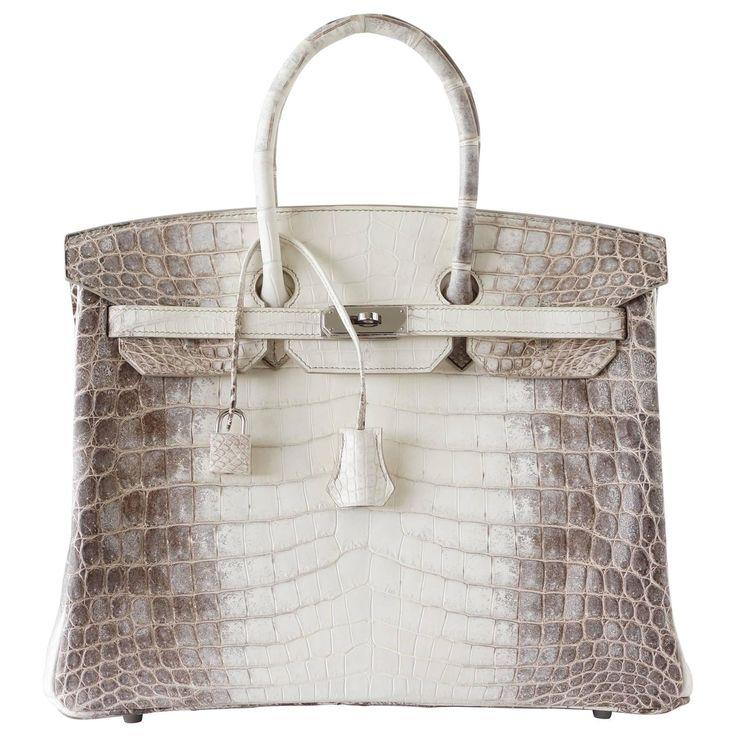 HERMES BIRKIN 35 bag Blanc Himalaya exquisite skin Limited Edition | From a collection of rare vintage top handle bags at https://www.1stdibs.com/fashion/handbags-purses-bags/top-handle-bags/