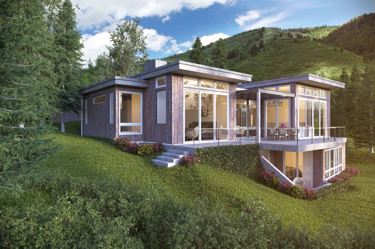 3d visualization done in Aspen Colorado for KRAI architects. #3d-vizual. #aspen #render #architecture #3d visualization #exterior
