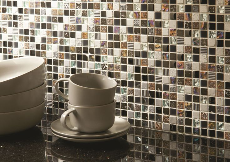 NEW: The devil's in the detail with these intricate Khois mosaics from Original Style. Featuring clear, frosted and iridescent glass, glazed stone and tiny engravings, the reflective nature of these mosaics requires a closer look.