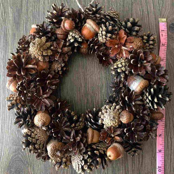 Fall Decor Rustic Wreath Floral Wreath Autumn Wreath Fall Wreath Anytime Wreath Natural Wreath Pinecone Wreath White Flowers