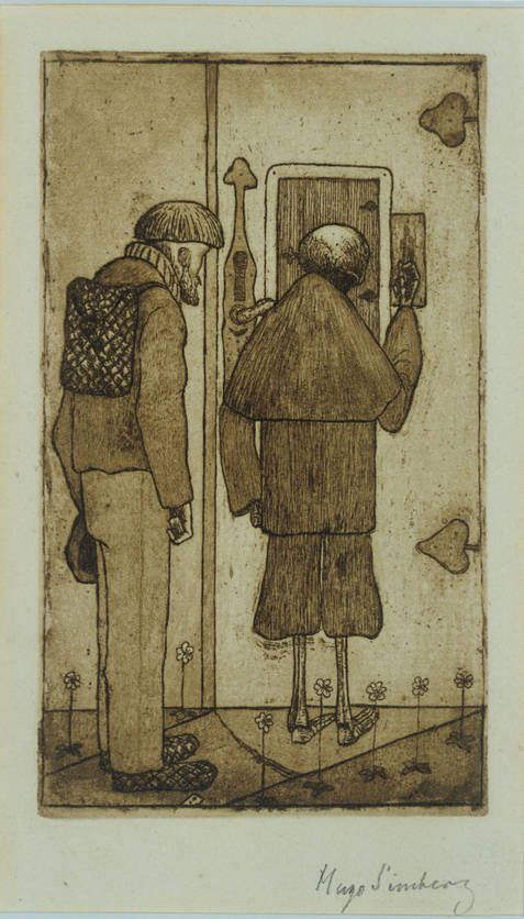 Hugo Simberg: Peasant and the Death at the Gates of Heaven, 1897.