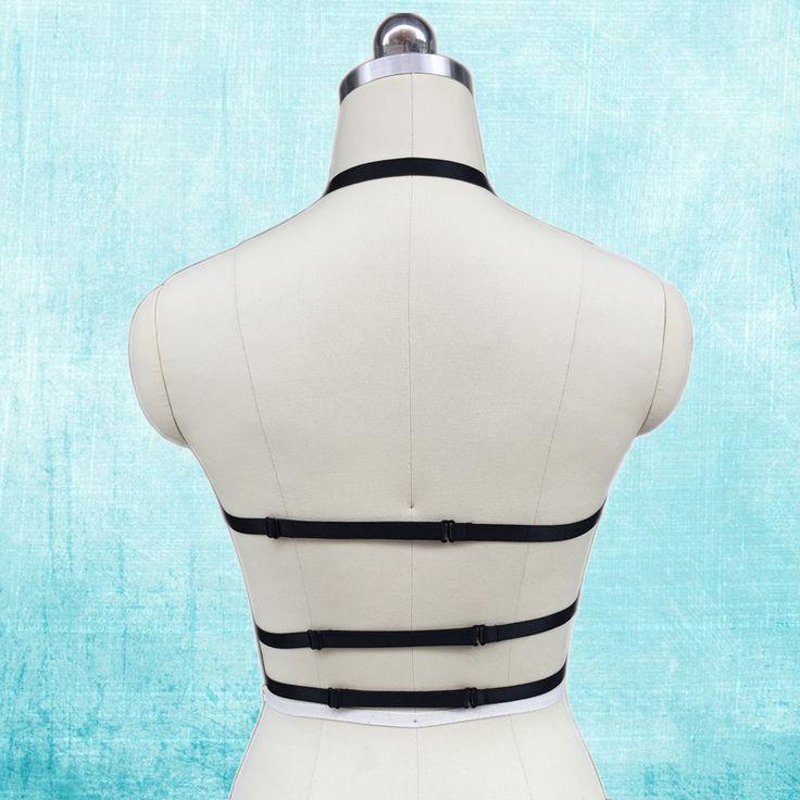 Сексуальная Крисс Кросс ремень harajuku панк Кейдж бюстгальтер танца на Пилоне костюм 90-х жгут бюстгальтер Каваи косплей связывание тела Кейдж O0266