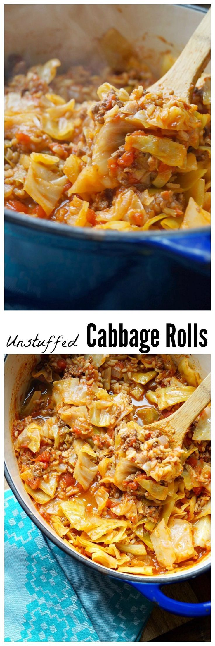 Healthy Unstuffed Cabbage Rolls