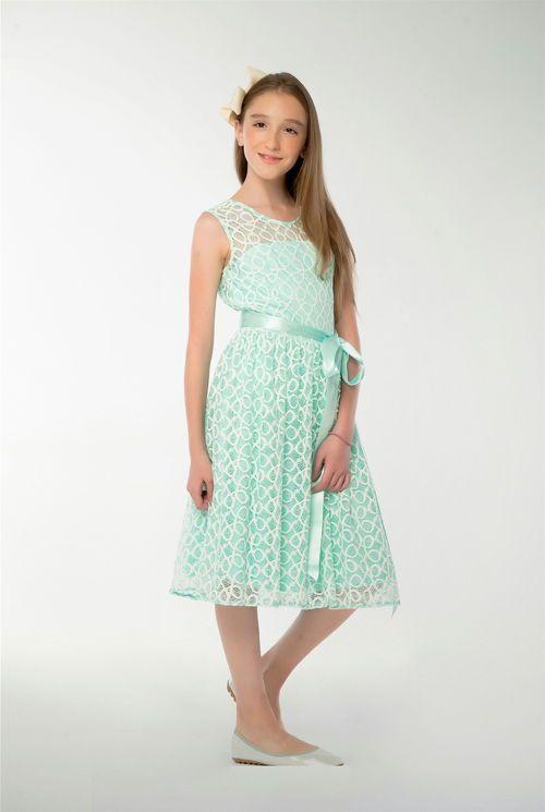 Vestidos verde pastel para ninas