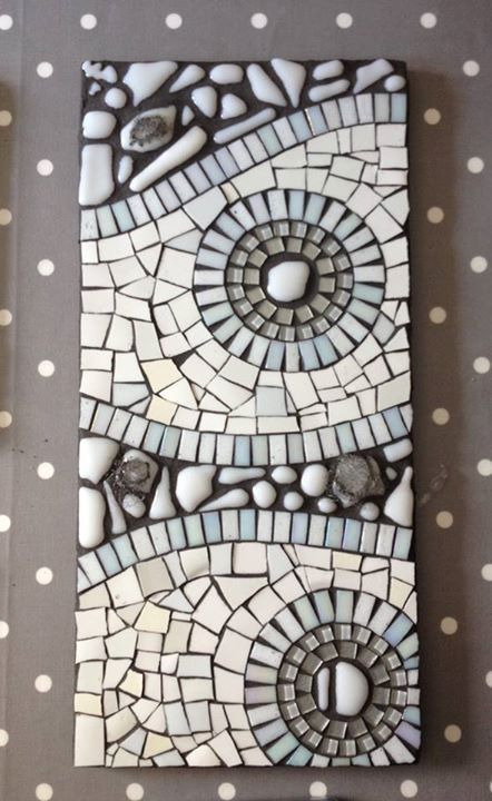 sneak peek of collaboration between Anna Krystyna Casey- Multi Media Textiles and Julie Vernon Mosaics