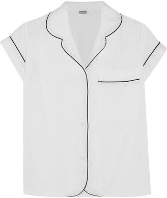Bodas Seersucker Cotton Pajama Top - Shop for women's tops