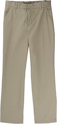 French Toast School Uniform Boys Adjustable Waist Double Knee Pants Khaki 10