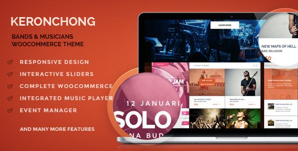 Keronchong – Bands & Musicians WooCommerce Theme (WooCommerce)   WPtized.com