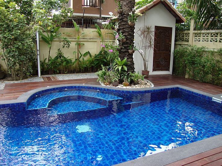 1486 best images about awesome inground pool designs on for Pool design for small backyards