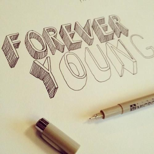 i love this idea, i think i would just write something other than forever young, maybe i'd write something like dream or love but no madder what i still like the idea