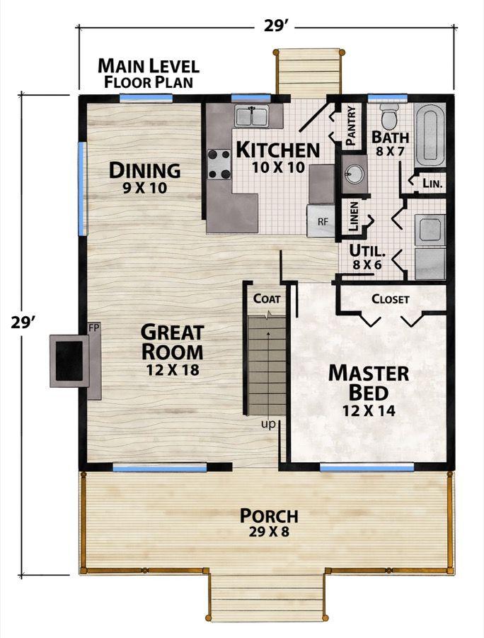 Crockett Plan Details Natural Element Homes In 2020 Cabin House Plans House Plans Small House Plans