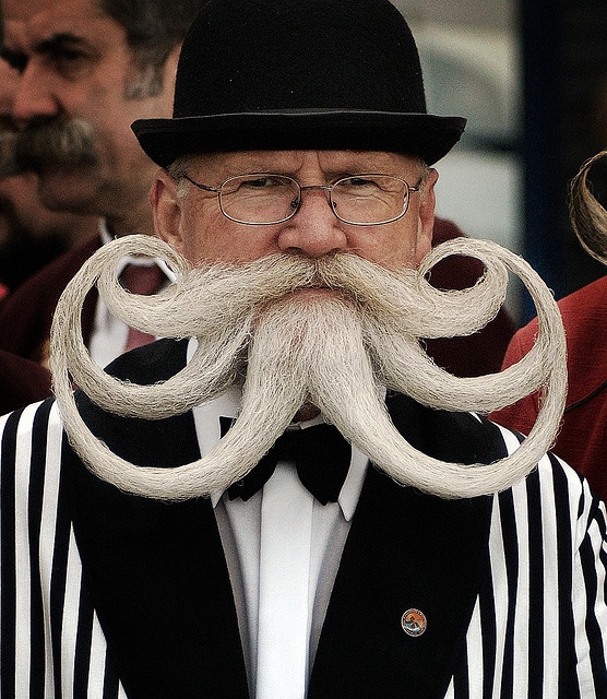 Willi Chevalier, winner of the Partial Beard Freestyle Category at the World Beard and Moustache Championships, Brighton. Absolutely beautiful haha #facialhair #toomuchtimeonmyhands  BAHAHAHAHA