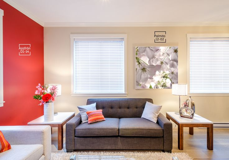 Los tonos neutros con pequeños acentos de rojo, lila o azul pueden traer a tu sala armonía y un efecto apacible.