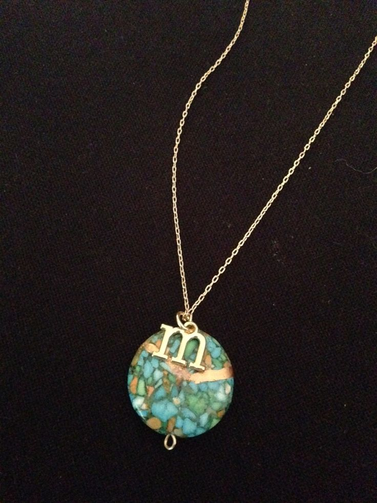 Kintsugi necklace with an alphabet. Perfect Gift! #perfectgift