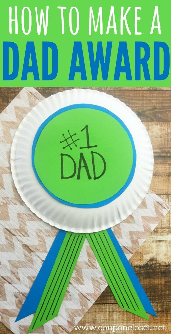 Homemade Father's Day Gift Idea - have the kids make this #1 Dad Award that he will love.
