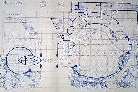 Frank lloyd wright guggenheim museum blueprint by for Florida blueprint