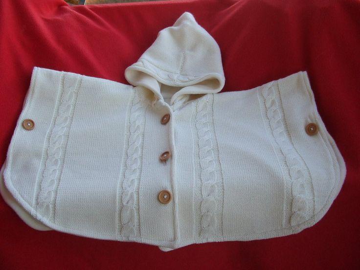 mantella poncio cappotto maglia bimba, by maglieria magica, 48,00 € su misshobby.com