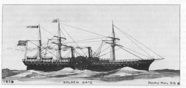 Golden Gate Ship Pacific Mail SS in 1850