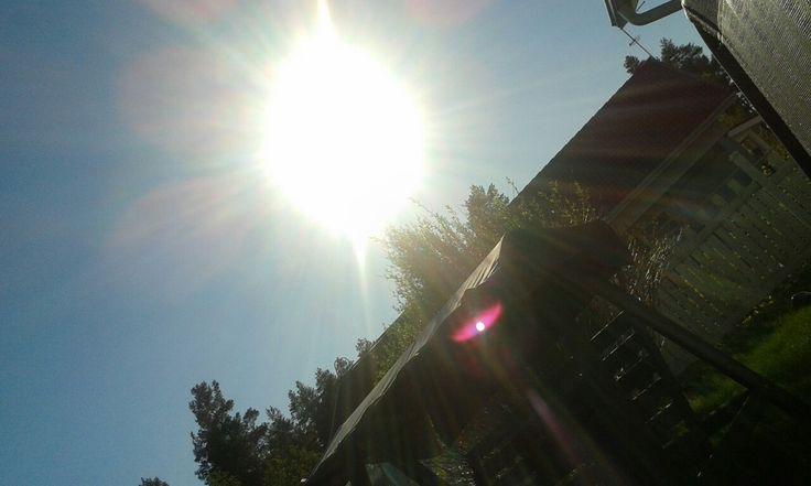 Aurinko paistaa kirkkaalta taivaalta ☀ ☀ ☀