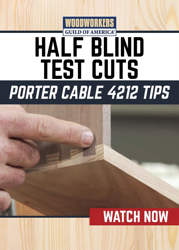 Using the Porter Cable 4212 dovetail jig George Vondriska demonstrates the guess-and-check process for gauging the depth of cut for your half blind dovetails. As a rule of thumb, George likes to remember too tight: too deep, too loose: too shallow. He teaches you how to adjust your depth of cut appropriately once you've made your test cuts.
