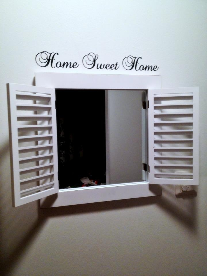 Home sweet home #wall #sticker #mirror #deco #shabby #home #sweet #window #ChicSisters