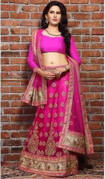 Deep #Pink Color Net A Line Style Treditional Wear Lehenga Choli | FH497276206 #heenastyle, #designer, #lehengas, #choli, #collection, #women, #online, #wedding , #Bollywood, #stylish, #indian, #party, #ghagra, #casual, #sangeet, #mehendi, #navratri, #fashion, #boutique, #mode, #henna, #wedding, #fashion-week, #ceremony, #receptions, #ring , #dupatta , #chunni , @heenastyle , #Circular , #engagement ,#treditional