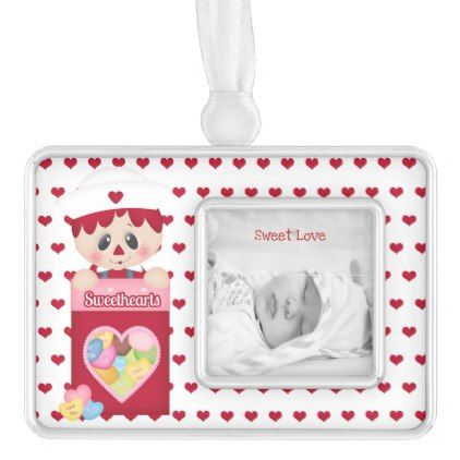 Raggedy Doll Sweetheart Candy Valentine Love Christmas Ornament - girl gifts special unique diy gift idea