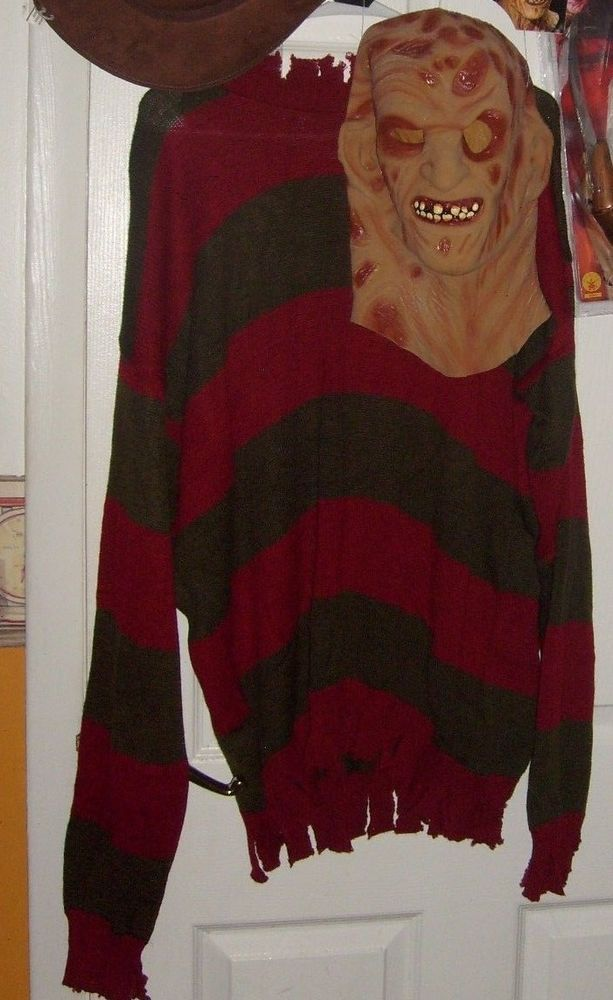 d0c5f226a70 FREDDY KRUEGER SWEATER AND DELUXE MASK COSTUME STANDARD MEDIUM NEW   NEWCOSTUME  CompleteOutfit