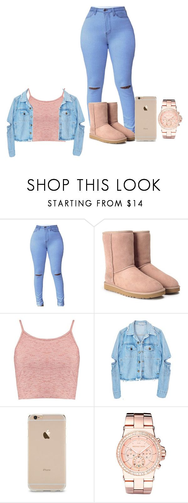 """""""Untitled #36"""" by babygirl77-1 ❤ liked on Polyvore featuring UGG, Boohoo and Michael Kors"""