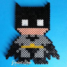 "Décoration super héros ""batman"" en perles hama"