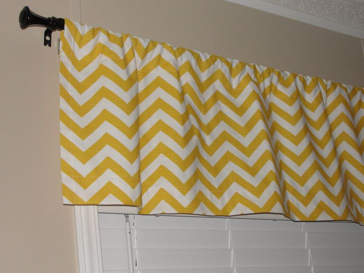 yellow chevron cafe curtains | ... Yellow Chevron Valance Zig Zags Lined with Cotton Muslin Yellow White