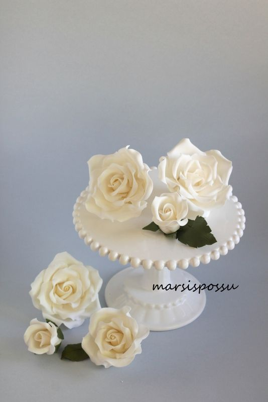 Marsispossu: Sokerimassaruusuja, sugar roses