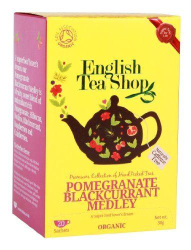 English Tea Shop Organic Pomegranate Blackcurrant Medley Super Teas (Pack of 3, Total 60 Tea Bags) English Tea Shop http://www.amazon.co.uk/dp/B00ED005JO/ref=cm_sw_r_pi_dp_sbqmub0BFG31M