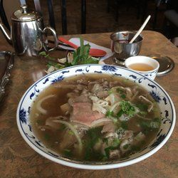Pho Tau Bay - Edmonton, AB, Canada. A large #1 Special Pho - a little bit of everything.