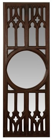 White Oak Gothic Tracery Full-Length Mirror / Built from reclaimed neo-gothic architectural elements salvaged from an old church in the city of Philadelphia / by Provenance Architecturals
