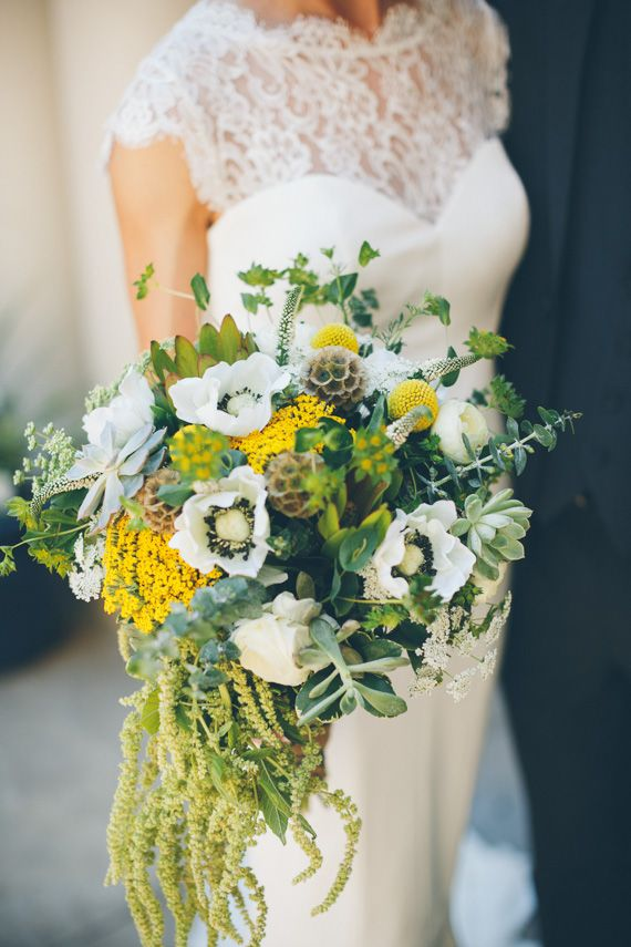 anemone bridal bouquet | photo by Andrey Mikityuk | 100 Layer Cake