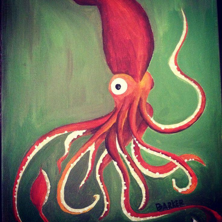 Acrylic Squid Painting | Artsy Fartsy | Pinterest ...