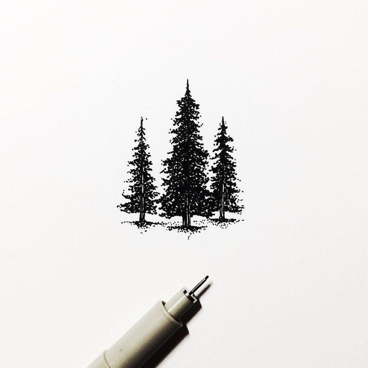 Let's point the tree.  #tree #handdrawn #oldblackbamboo #oldschool #illustration #artoftheday #icons #forest #minimalist #livefolk #folkscenery