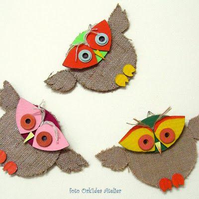 ORK'IDEA ATELIER: TUTORIAL: COME FARE UN GUFO CON UN CD / Tutorial: how to make a owl from a cd-rom